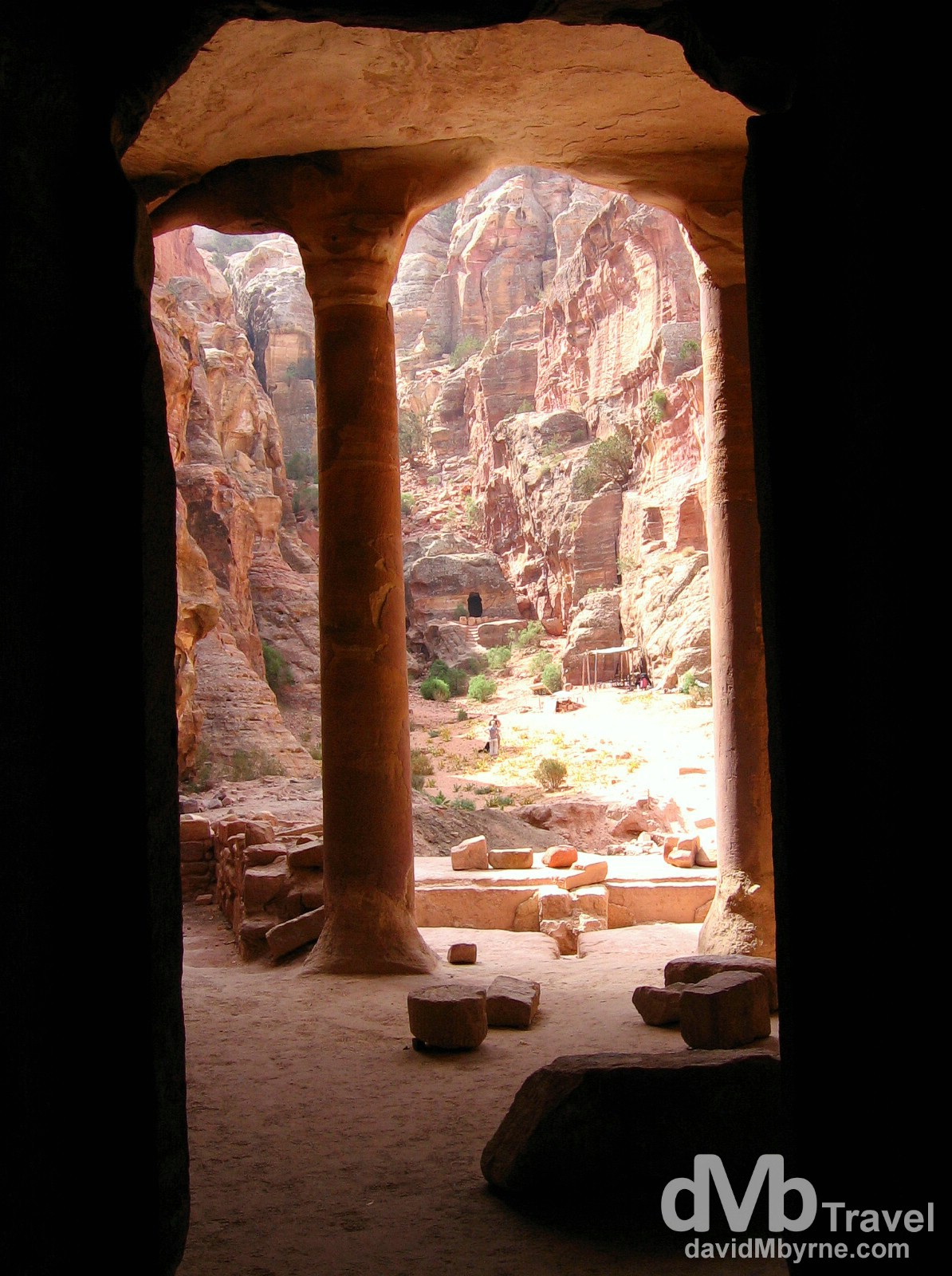 An abandoned building in Petra, Jordan. April 27, 2008.