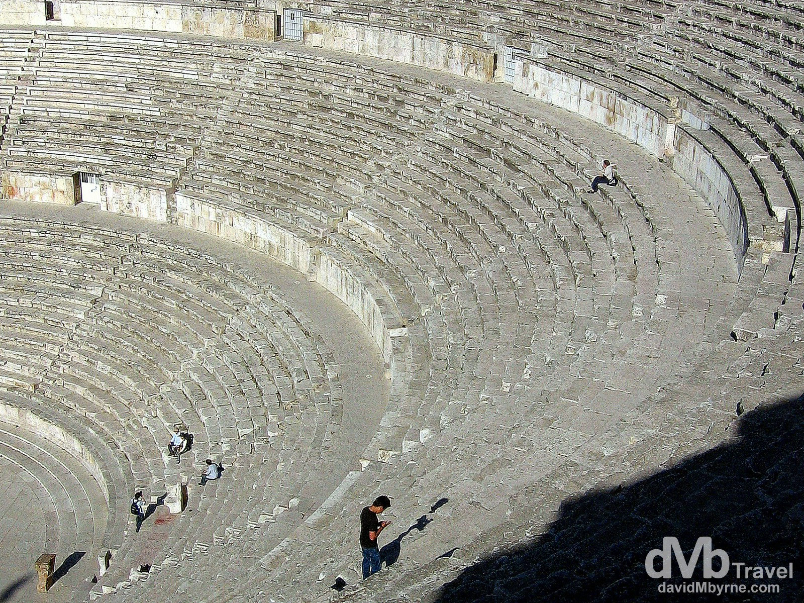 Steps of the Roman Amphitheater in Amman, Jordan. April 28, 2008.