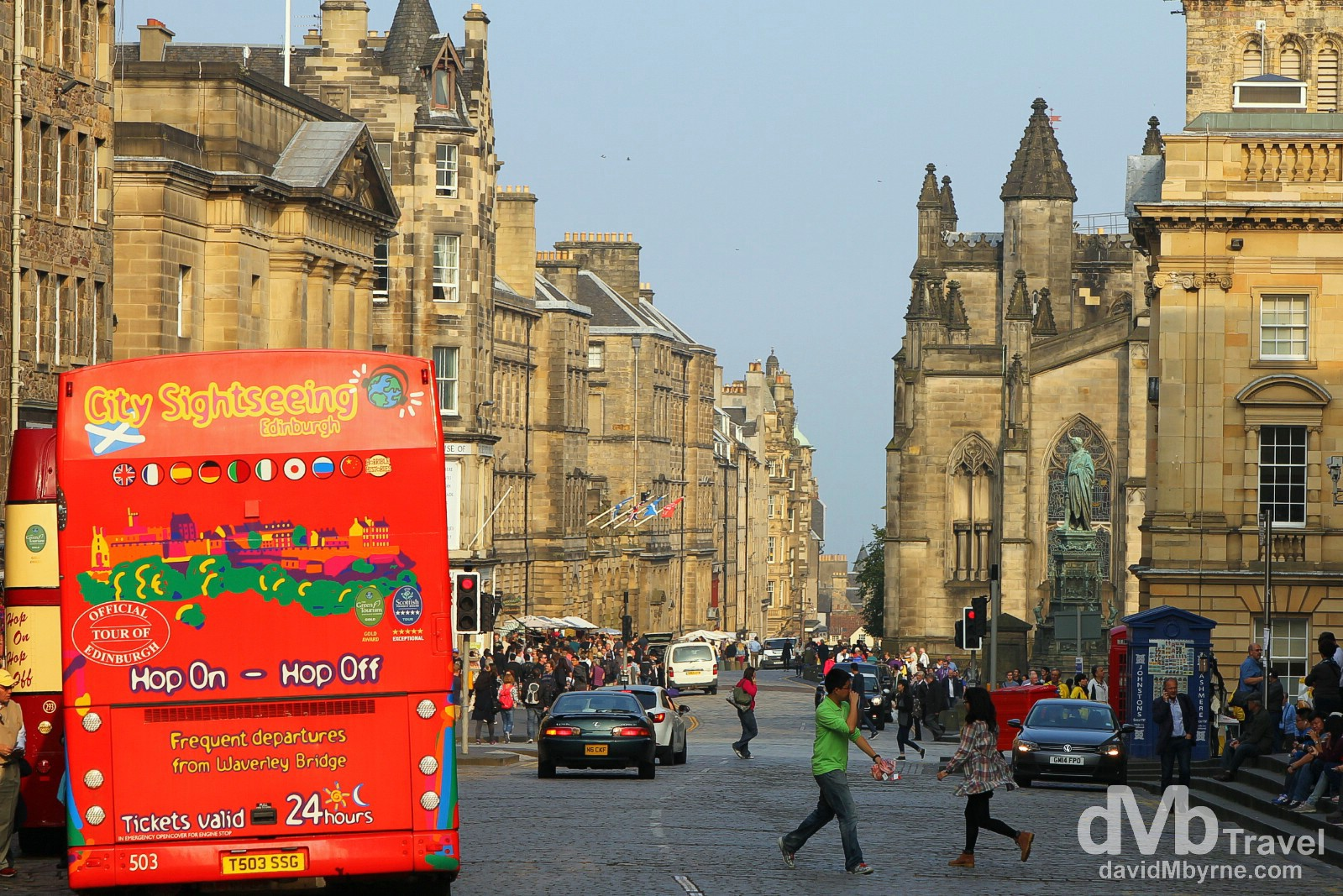 Royal Mile, Edinburgh, Scotland. September 12, 2014.