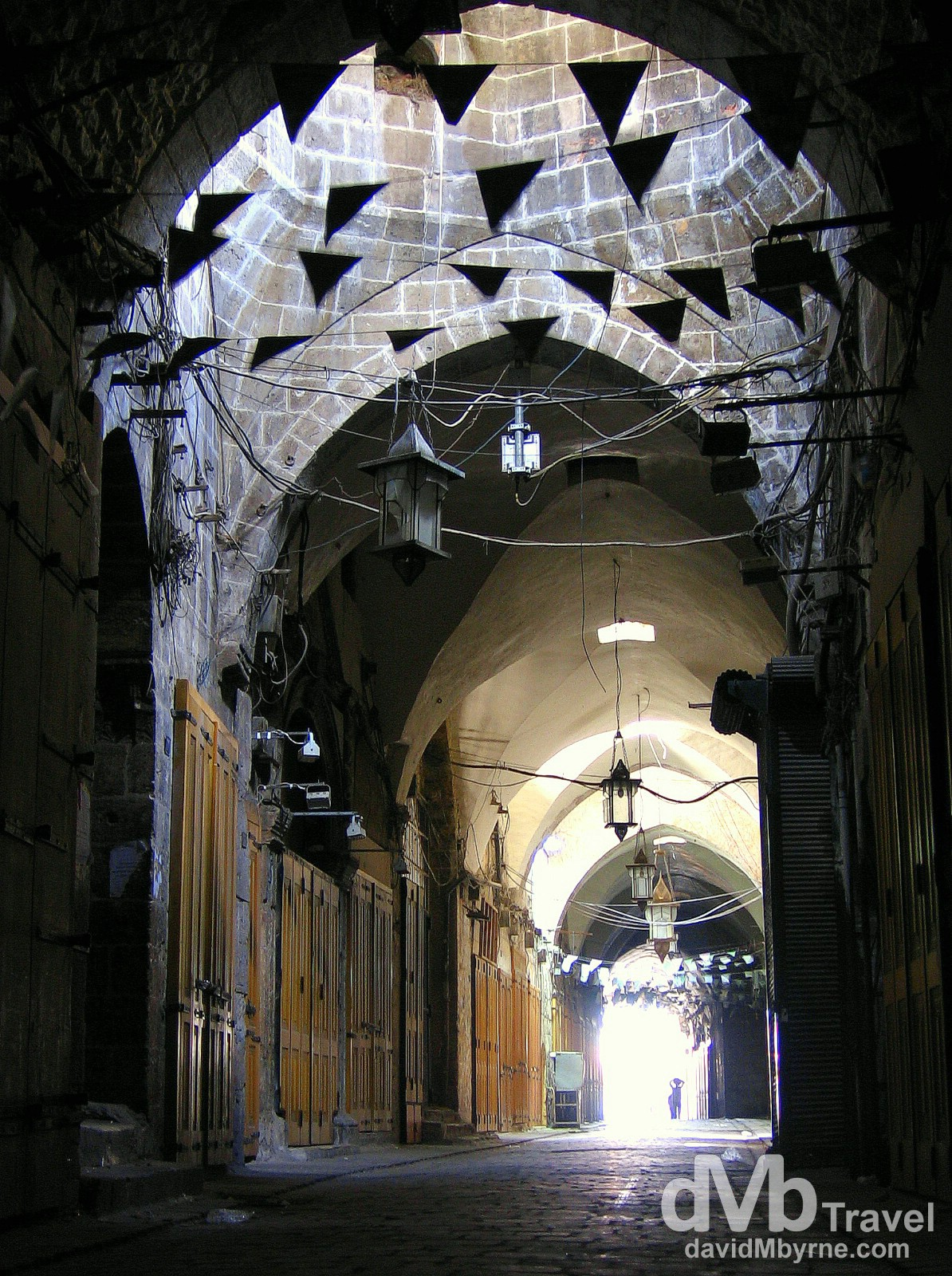 A section of the empty al-Madina souq in Aleppo, Syria. May 9, 2008.