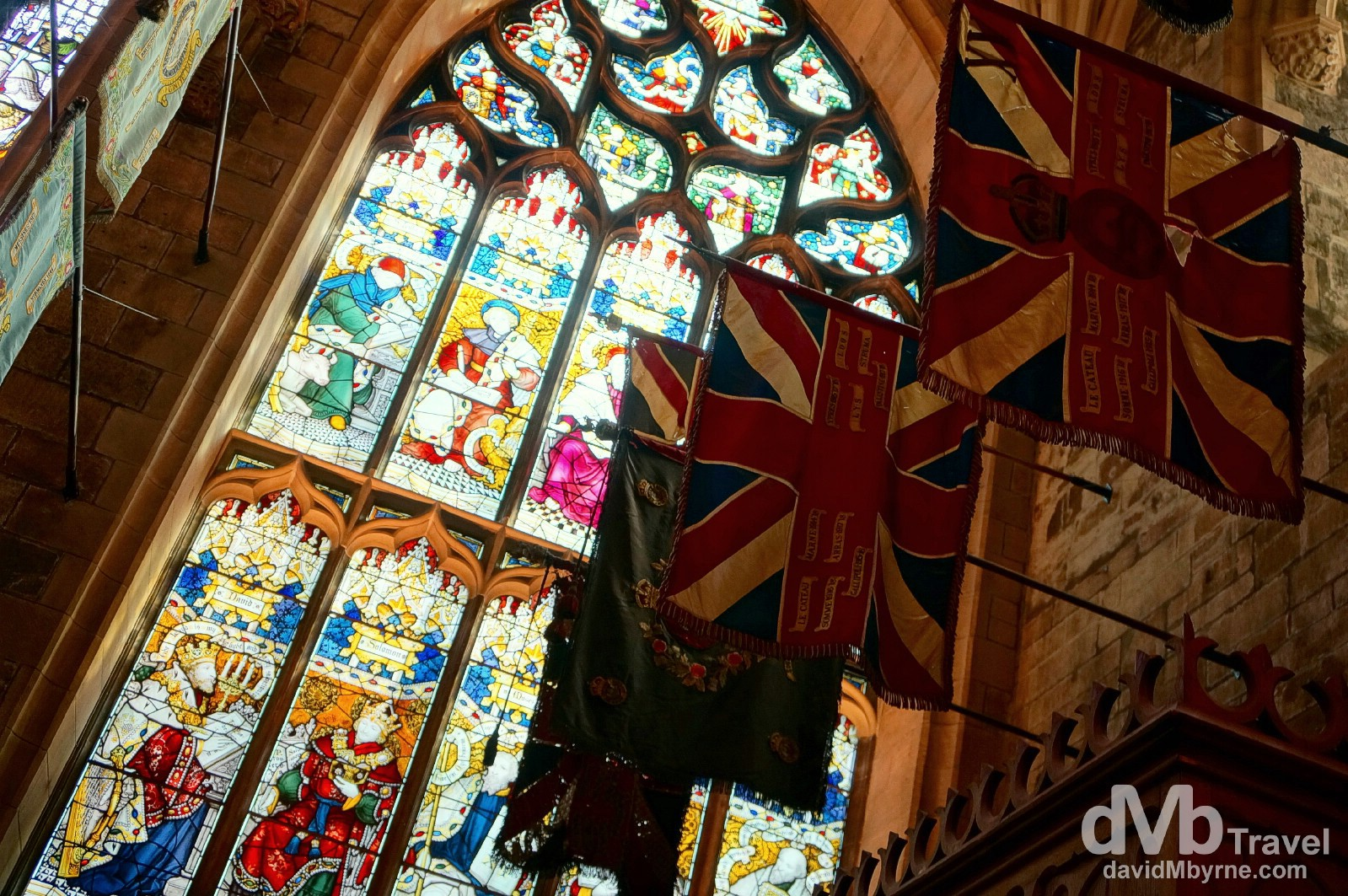 A section of the interior of St. Giles Cathedral in Edinburgh, Scotland. September 12, 2014.