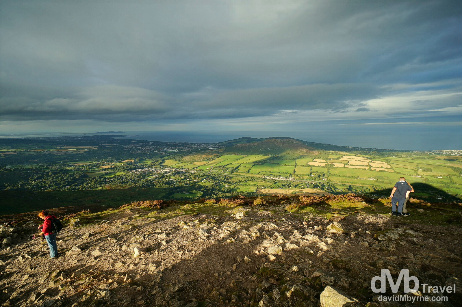 The view towards Dublin from atop the Sugar Loaf in Co. Wicklow, Ireland. August 31, 2014.