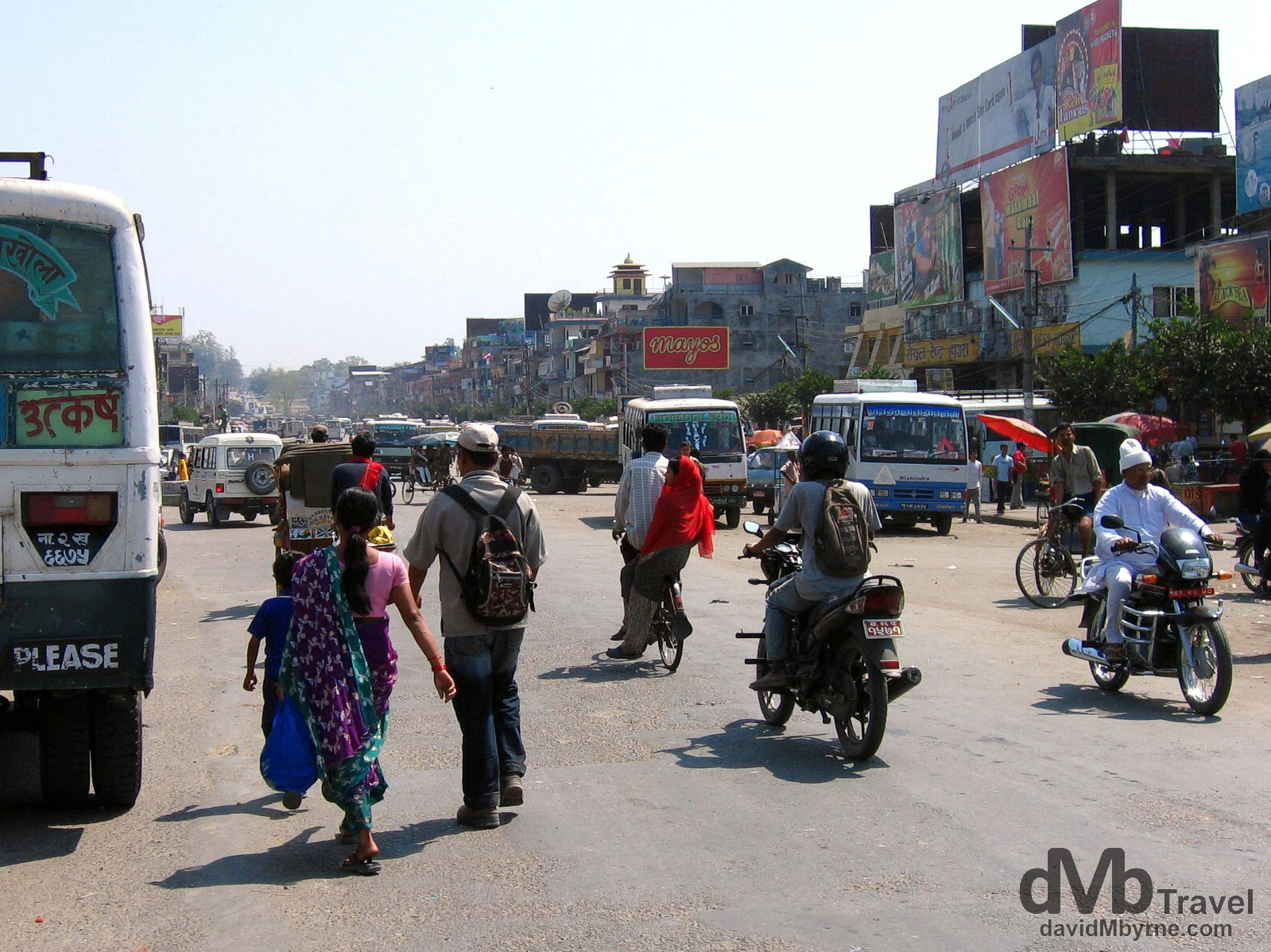 On the streets of Sunauli, Nepal, on the India/Nepal border. March 15, 2008.