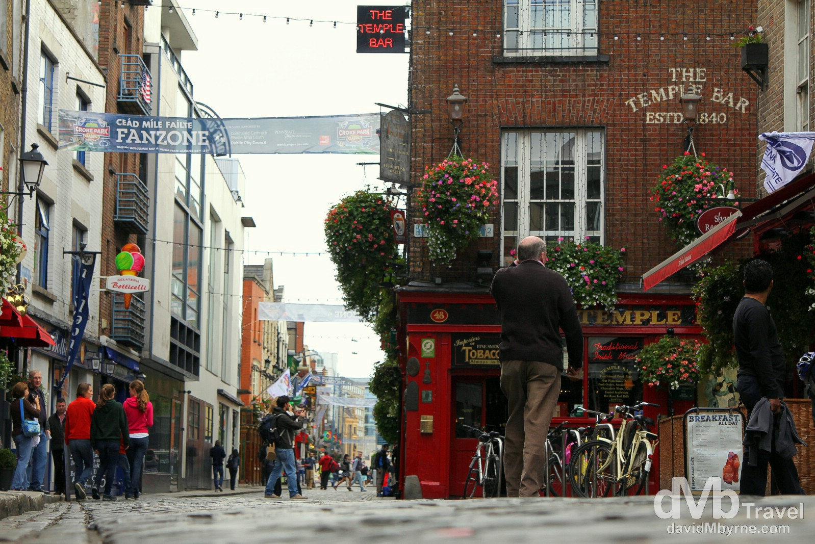 Temple Bar, Dublin, Ireland. September 1, 2014.