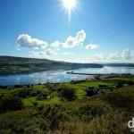 The village of Uig & Uig Bay off the west coast of the Trotternish Peninsula on the Isle of Skye, Scotland. September 17, 2014.