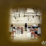 Activity at the Western / Wailing Wall in the Old City of Jerusalem, Israel. May 2, 2008.