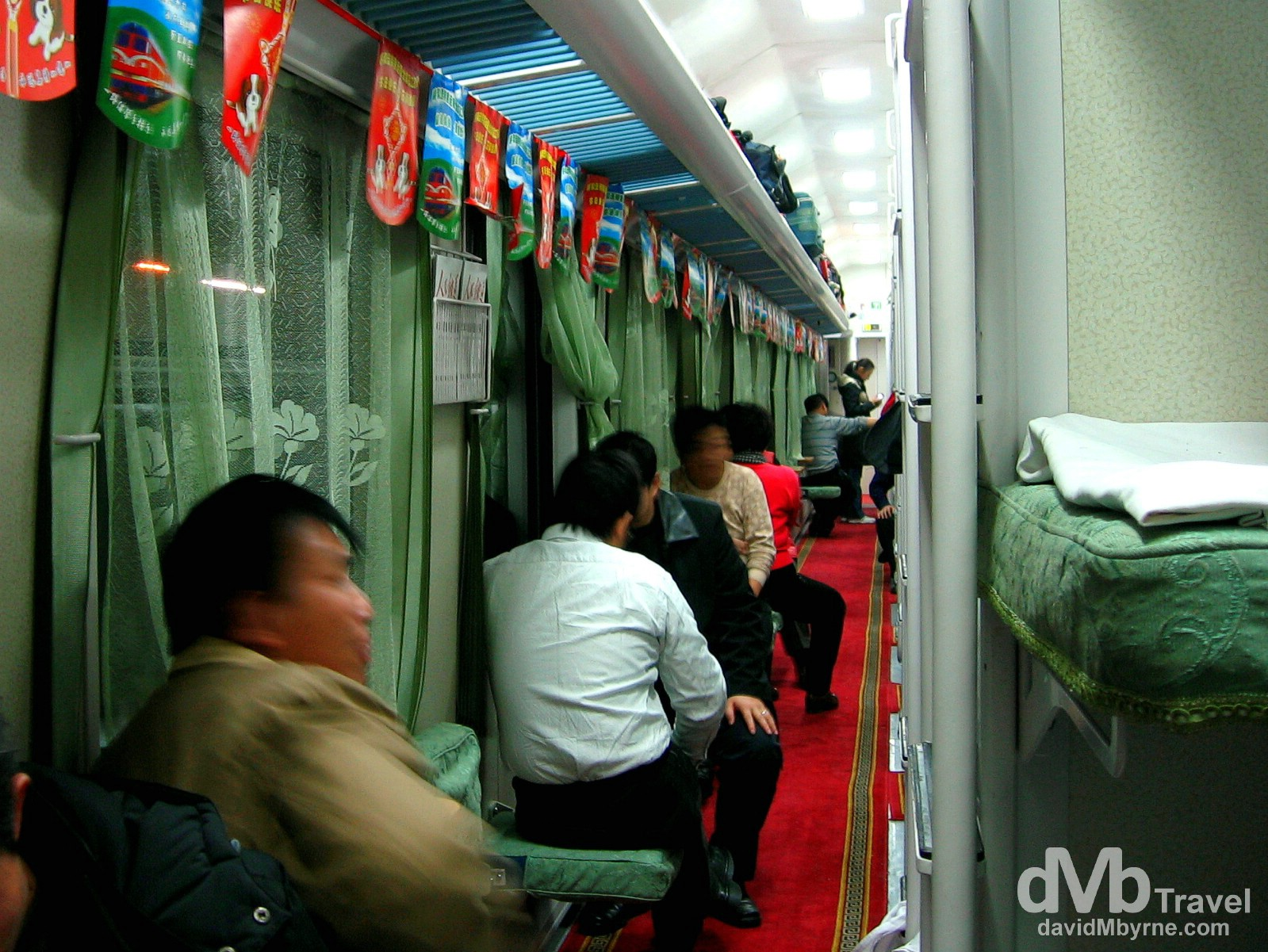 Hard Sleeper class carriage on the train from Beijing to Hohhot, China, February 11, 2006.