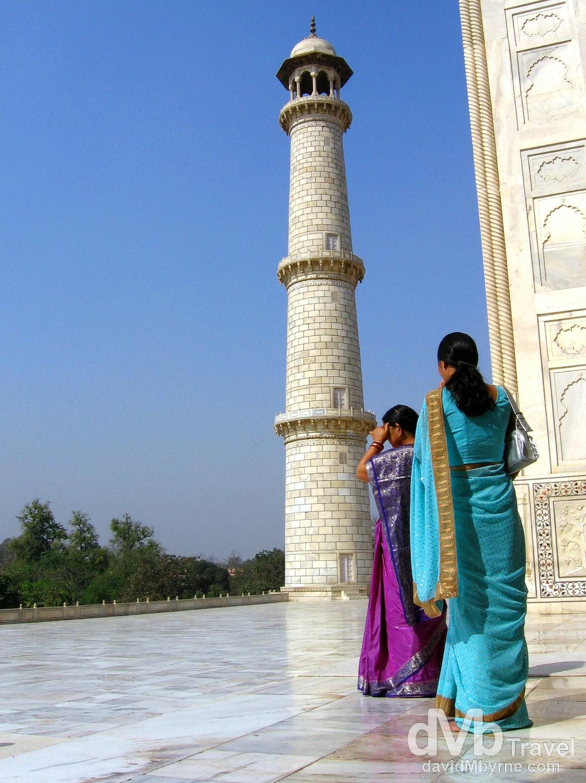 Exiting the central chamber of the Taj Mahal, Agra, Uttar Pradesh, India. March 25, 2008.