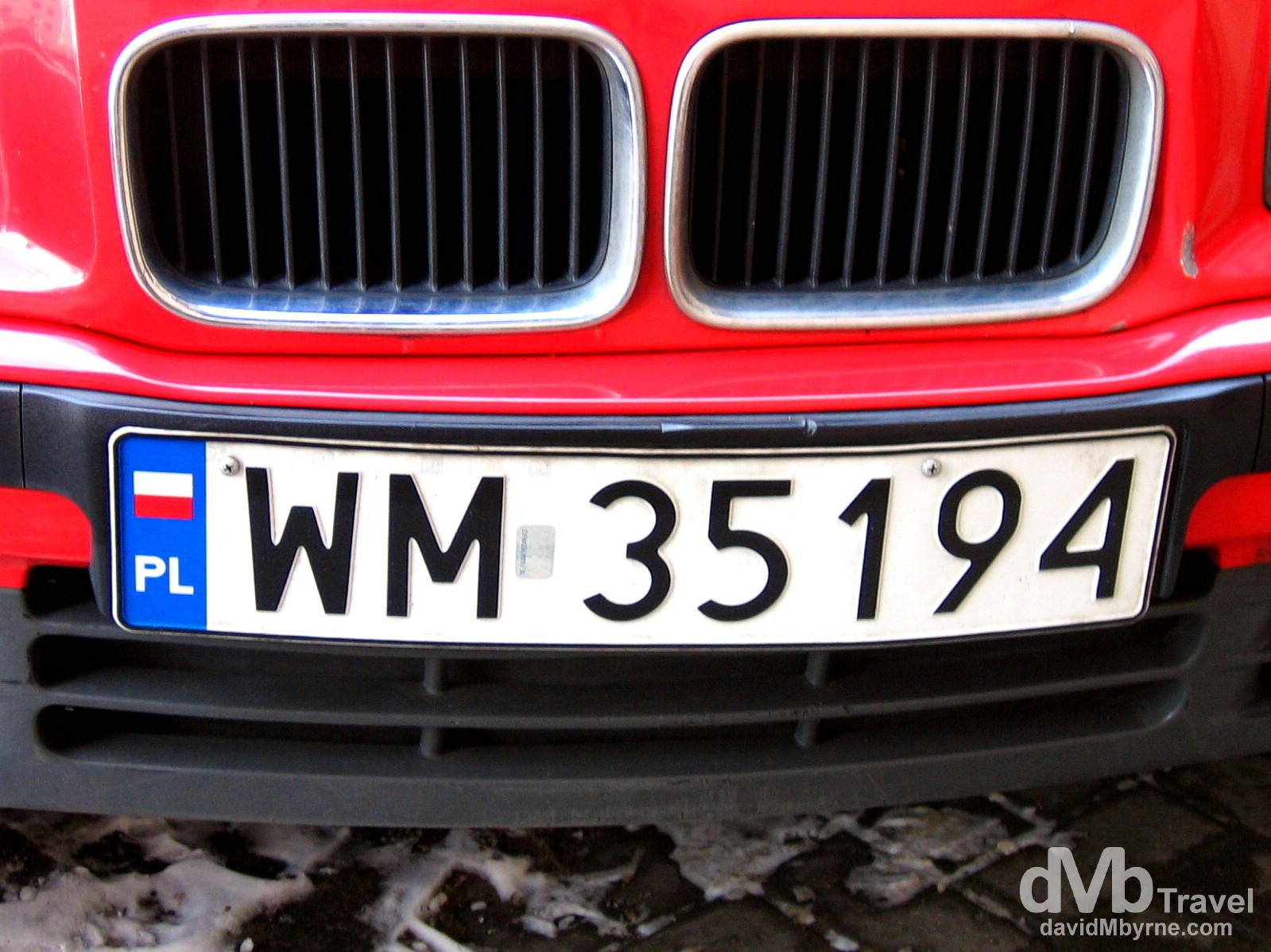 A BMW on the streets of Warsaw, Poland. March 5, 2006.