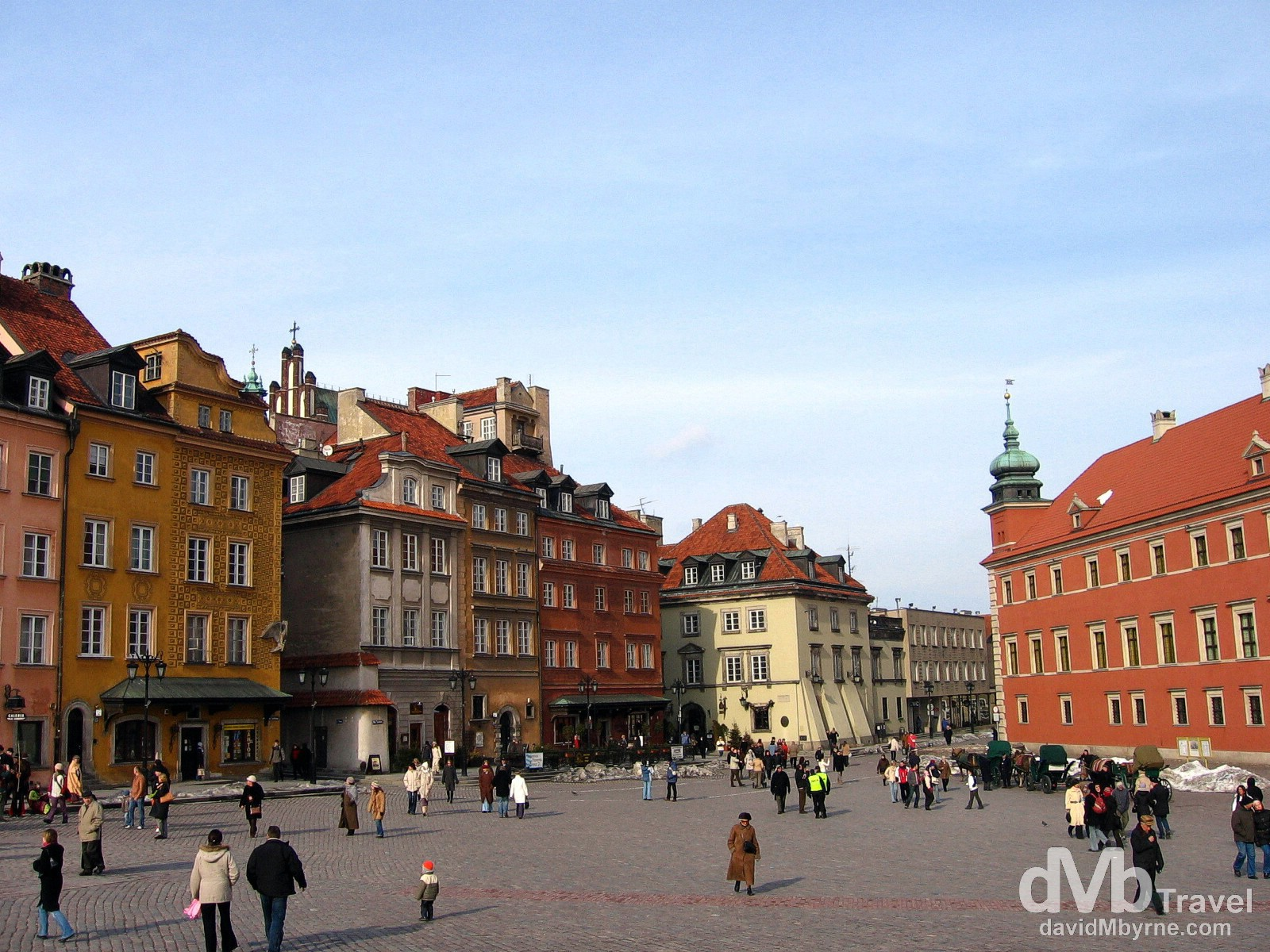 Castle Square in the UNESCO listed Old Town of Warsaw, Poland. March 5, 2006.