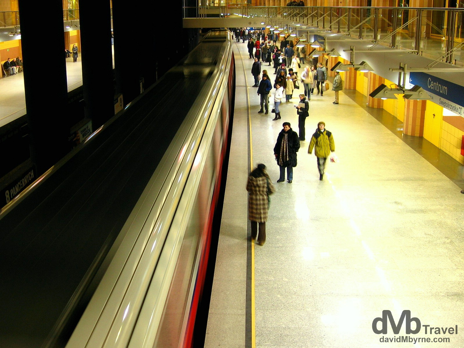 Centrum metro station in Warsaw, Poland. March 5, 2006.