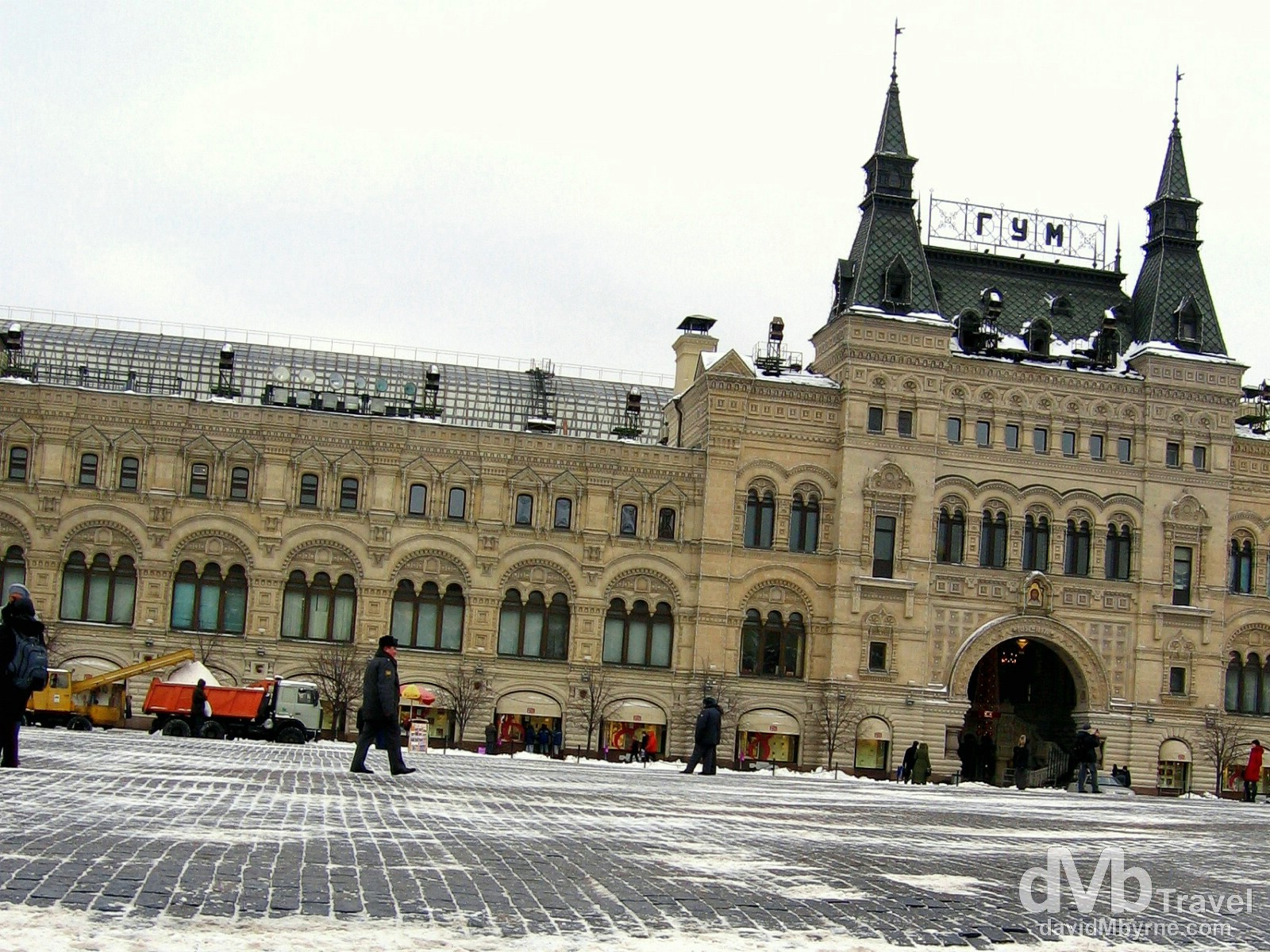The GUM Department Store as seen from Red Square, Moscow, Russia. February 26, 2006.