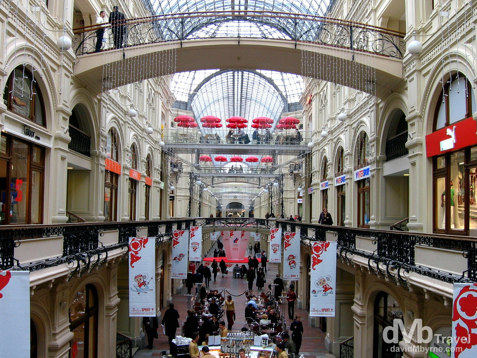 The interior of the GUM Department Store, Red Square, Moscow, Russia. February 26, 2006.