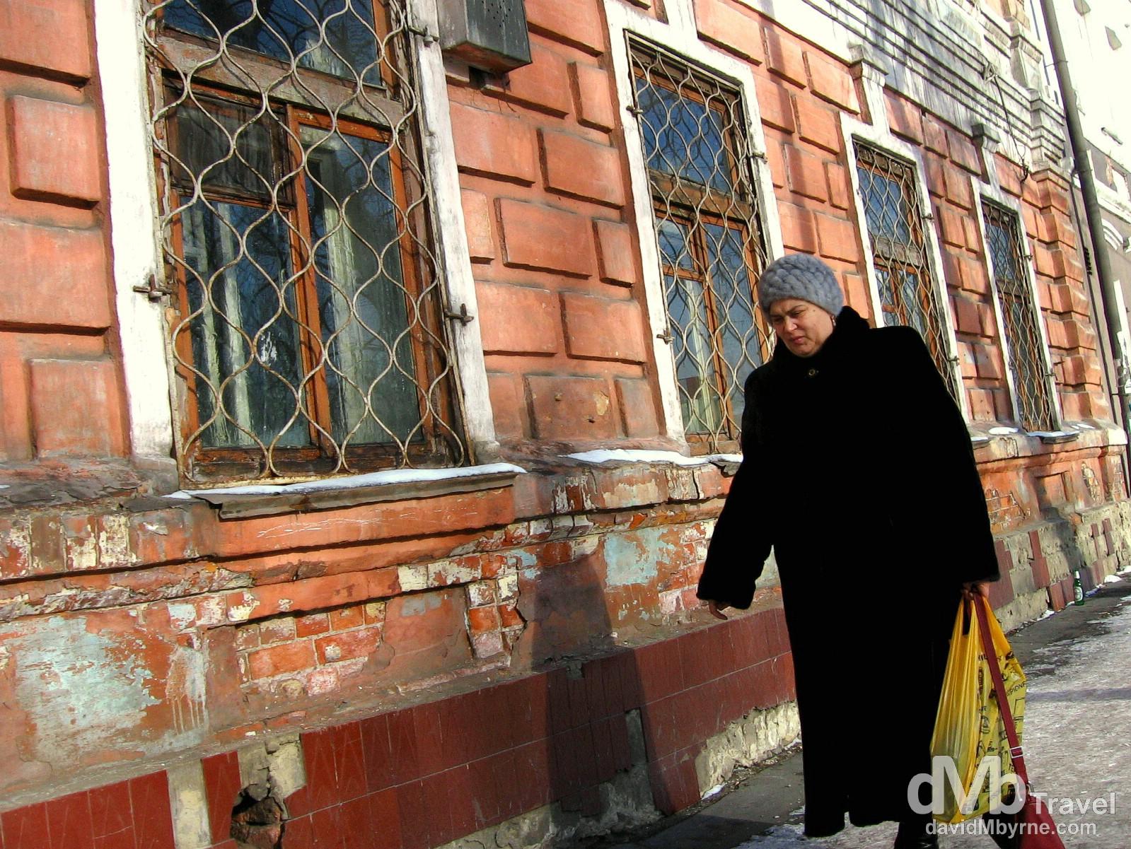 On the streets of Irkutsk, Siberian Russia. February 18, 2006.
