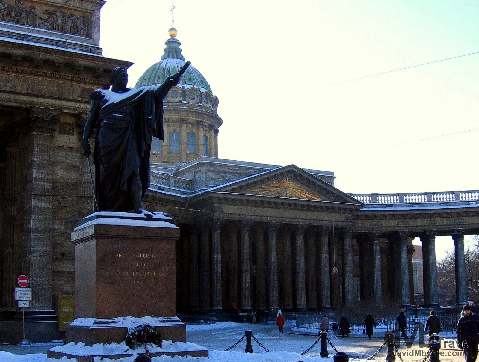 Kazan Cathedral, Nevsky Prospekt, St. Petersburg, Russia. February 27, 2006.