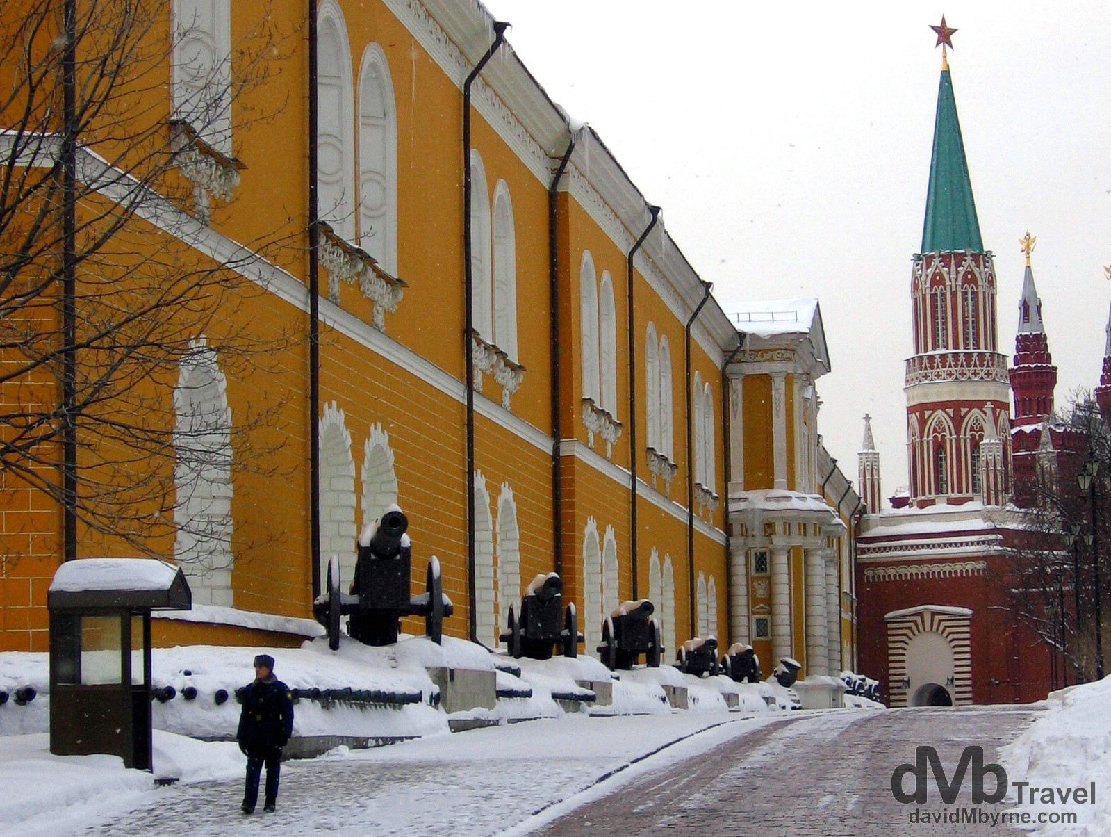 Inside the grounds of the Kremlin in Moscow, Russia. February 26, 2006.