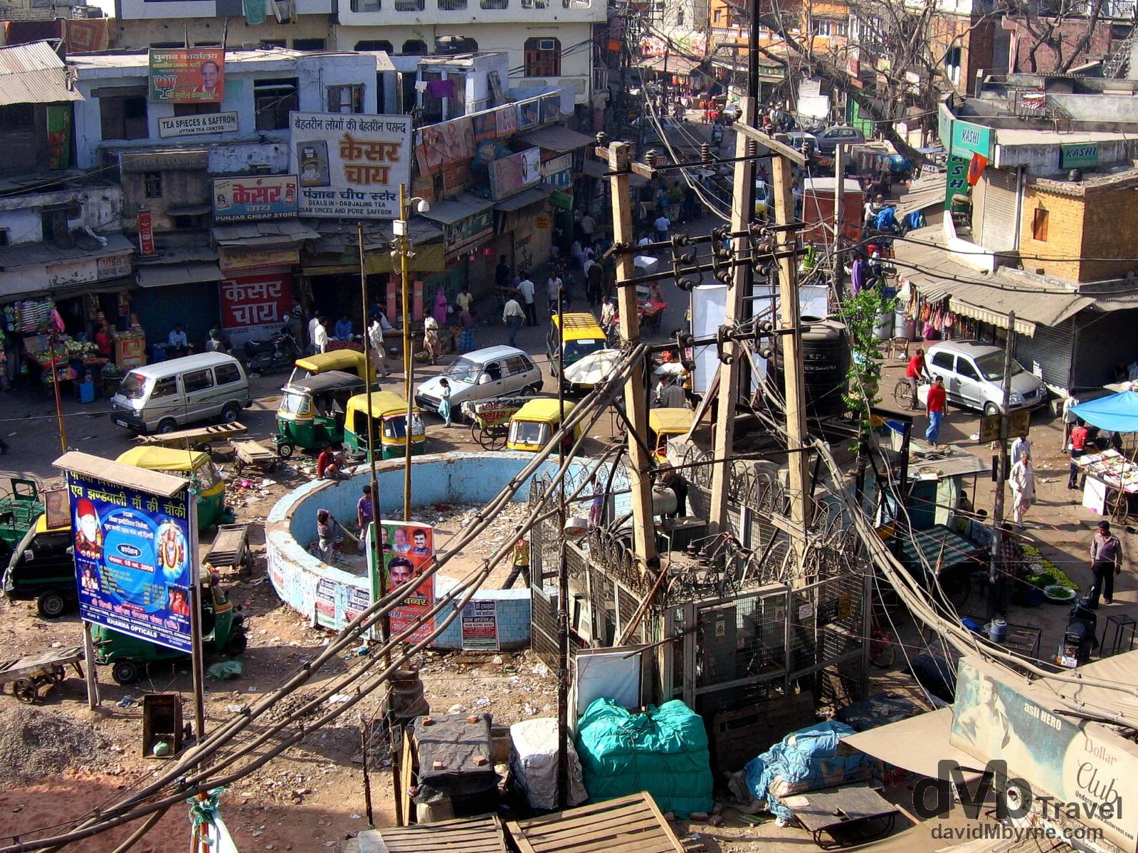 Main Bazaar in the travellers hangout of Paharganj in Delhi, India. March 21, 2008.