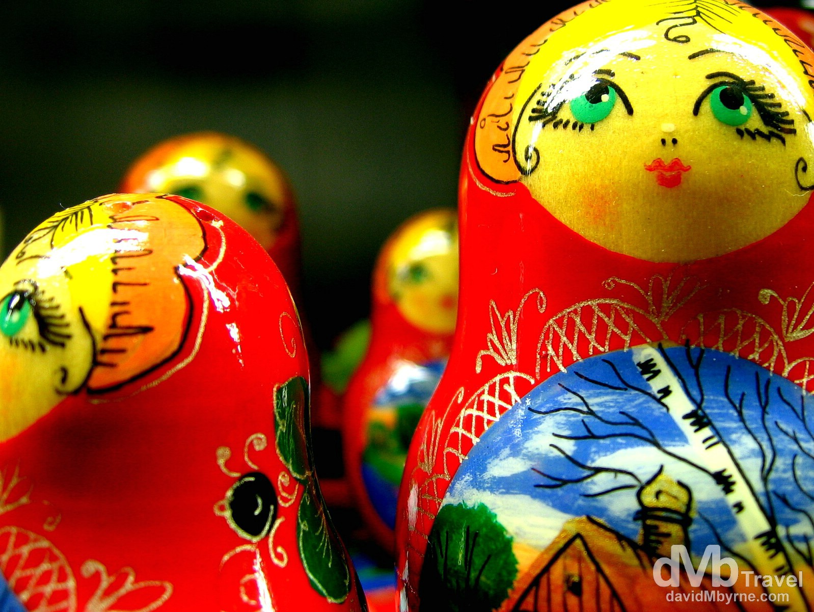 Matryoshka dolls in the gift shop of the Peter & Paul Fortress, St. Petersburg, Russia. February 28, 2006.