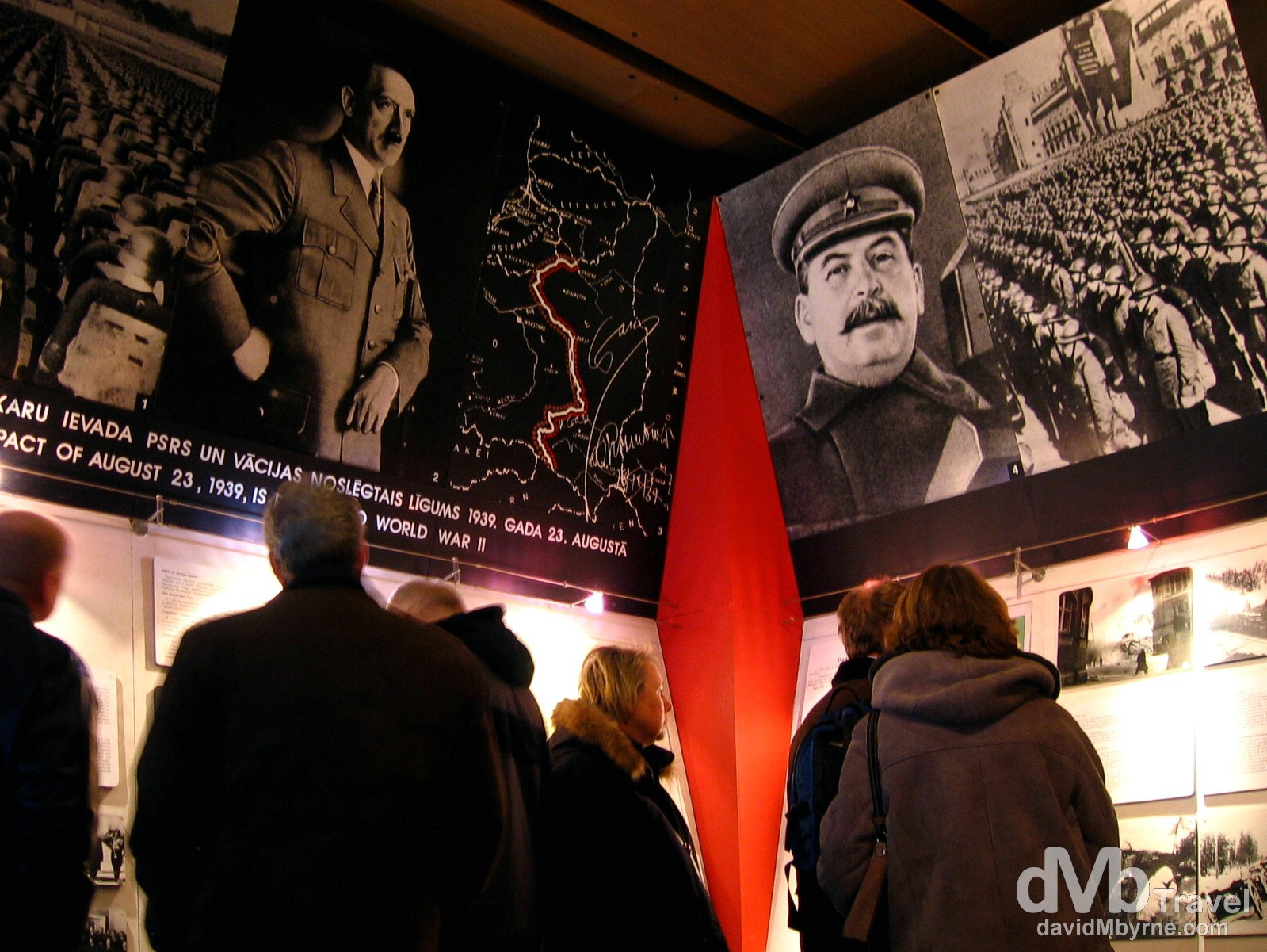 In the Museum of the Occupation of Latvia in Town Hall, Riga, Latvia. March 3, 2006.