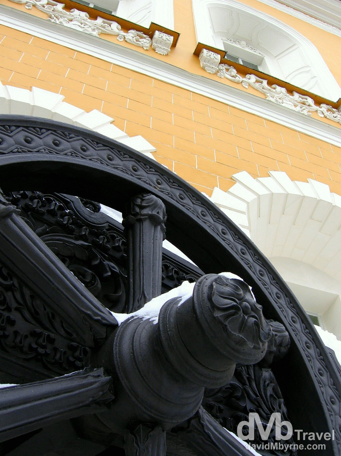 A decorative Napoleonic cannon in the grounds of the Kremlin in Moscow, Russia. February 26th, 2006.
