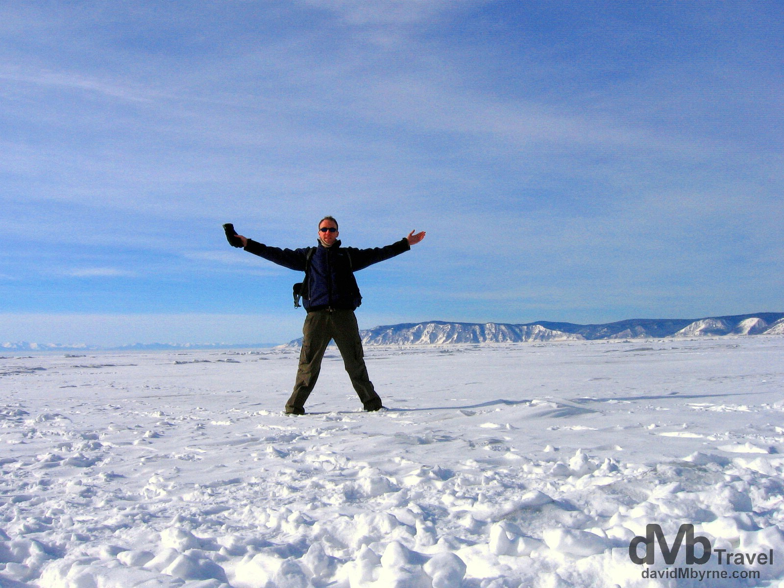 On the frozen expanse of Lake Baikal in Siberian Russia. February 18, 2006.
