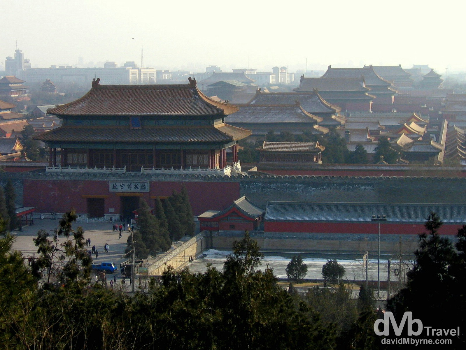 The Forbidden City, now renamed the Palace Museum, as seen from Jingshan Park in Beijing, China. February 11, 2006.