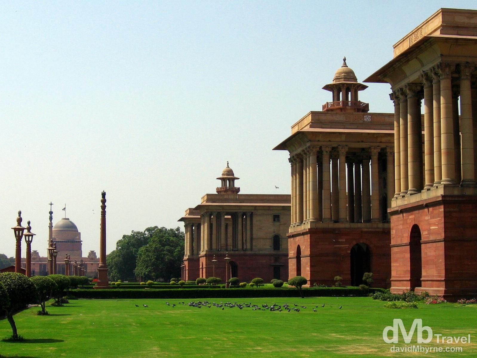 New Delhi Parliament buildings, New Delhi, India. March 22, 2008.