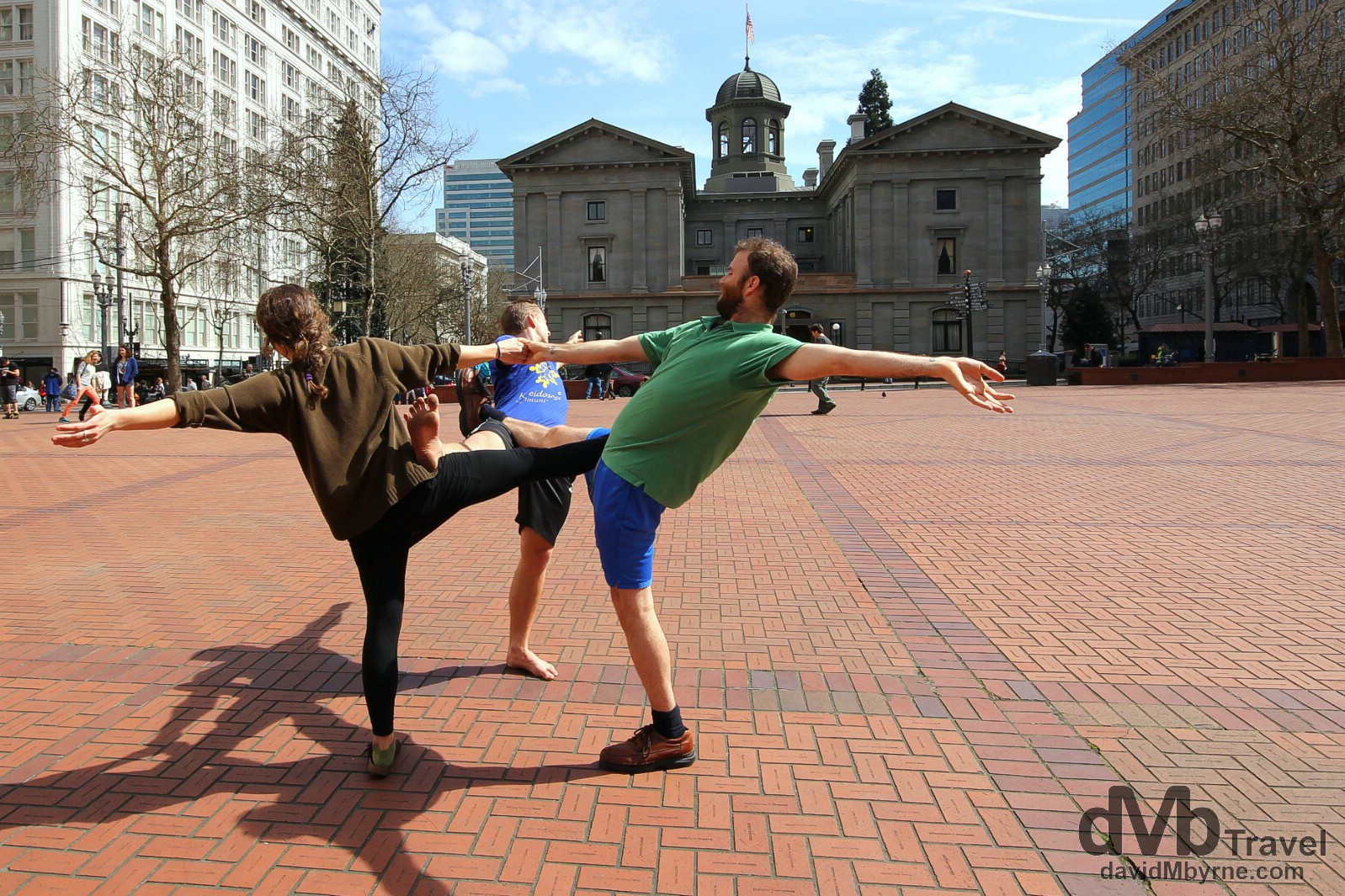 Pioneer Courthouse Square in downtown Portland, Oregon, USA. March 28, 2013.