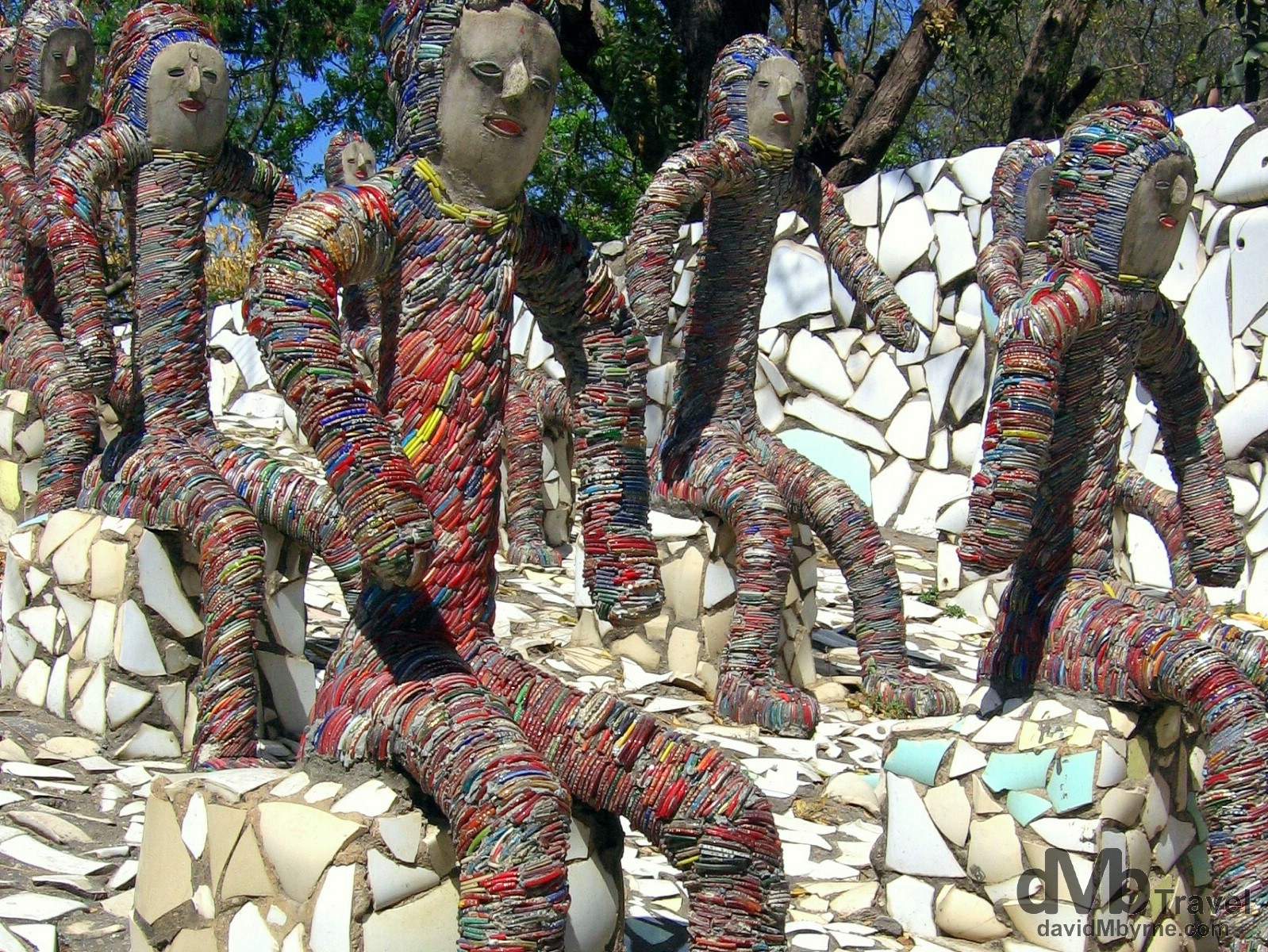 Sculptures in the Rock Garden in Chandigarh, Punjab, India. March 23, 2008.