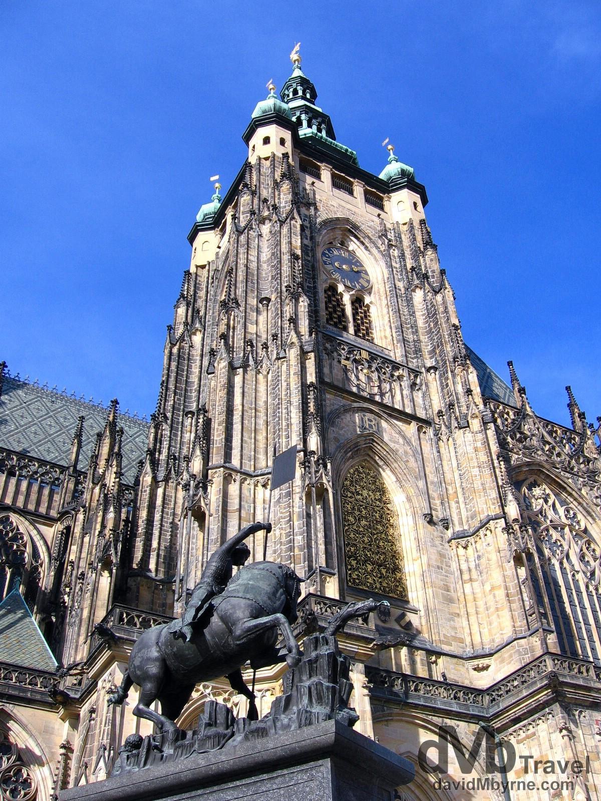 Saint Vitus Cathedral in the grounds of Prague Castle, Prague, Czech Republic. March 8, 2006.