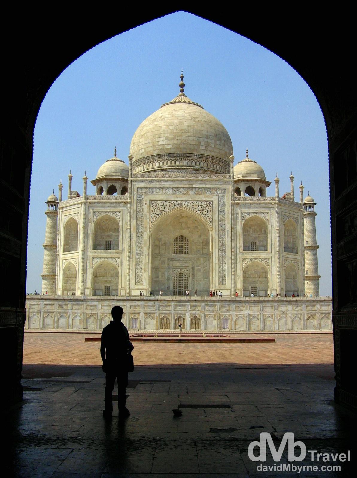 The Taj Mahal, Agra, Uttar Pradesh, India. March 25, 2008.