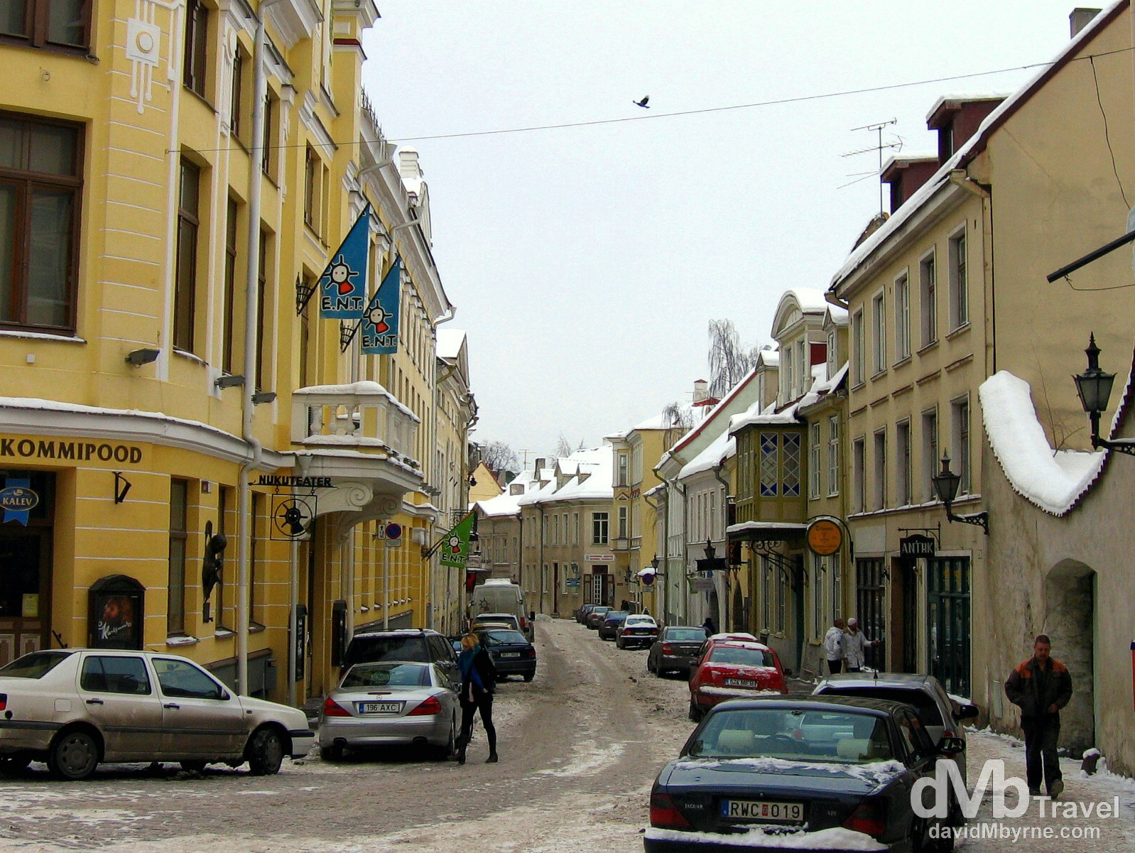 On the streets of Old Town, Tallinn, Estonia. March 2, 2006.