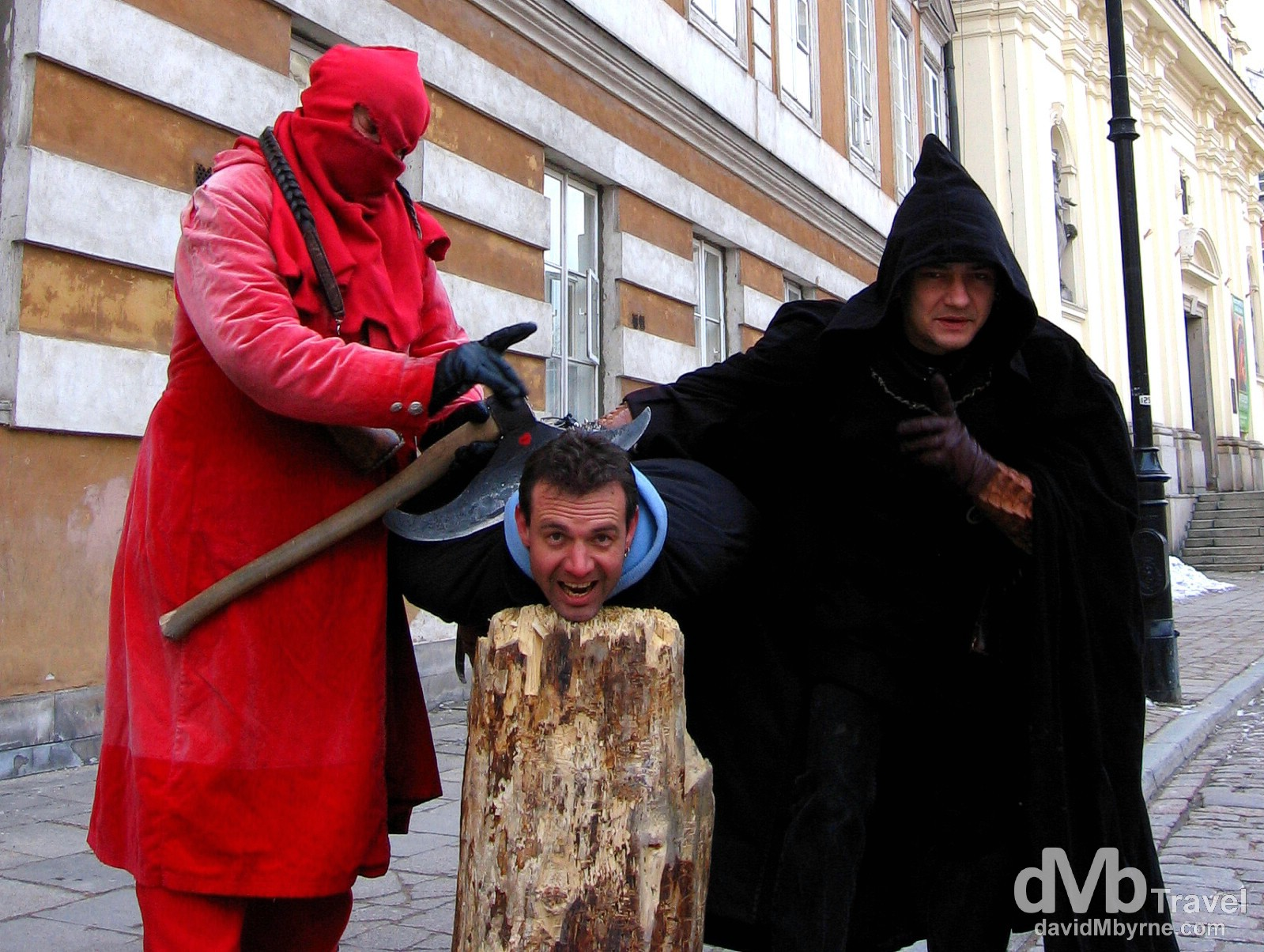 Execution in Old Town, Warsaw, Poland. March 5, 2005.