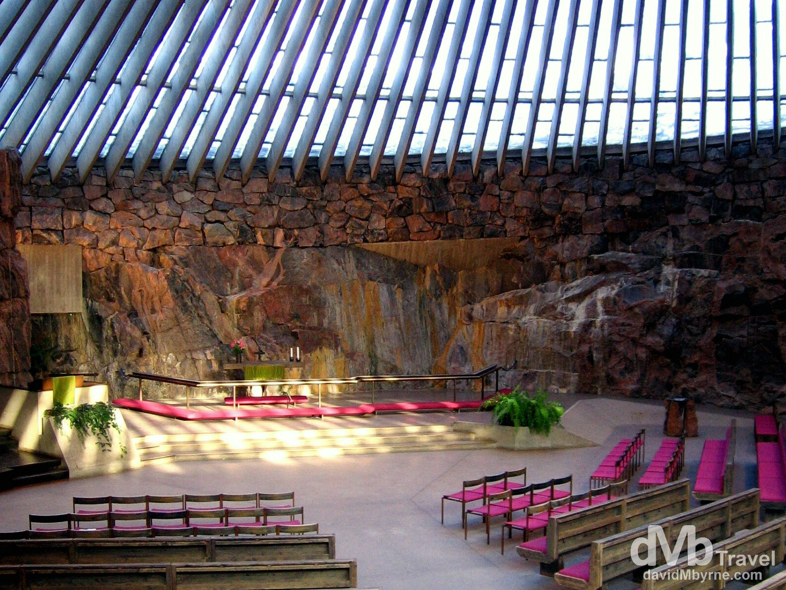 Temppeliaukio Church, aka the Rock Church, in Helsinki, Finland. March 1, 2006.