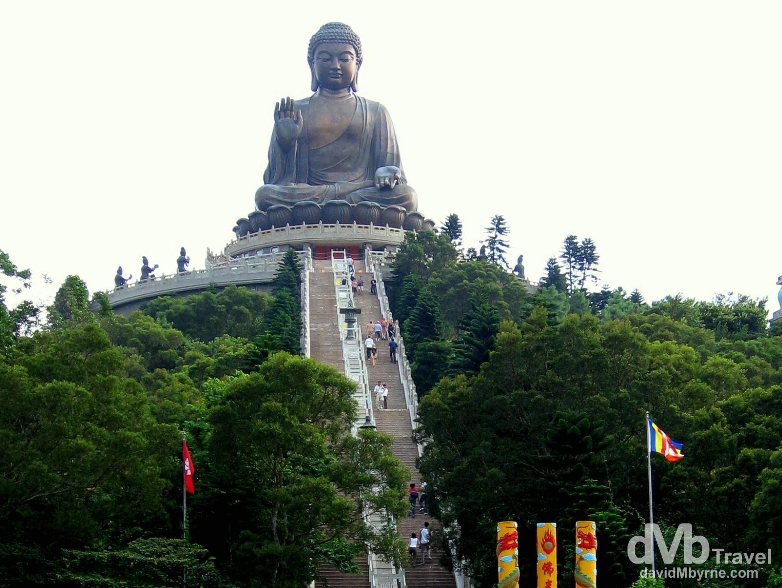 The Big Buddha of the Po Lin Monastery, Lantau Island, Hong Kong, China. August 27, 2005.