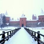 Trakai Castle, Trakai, Lithuania. March 4, 2006.