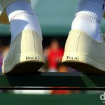 The feet of an umpire officiating during the 2010 Wimbledon Championships at the All England Lawn Tennis and Croquet Club, Wimbledon, London, England. June 26, 2010.