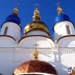 A section of the St. Sofia Cathedral of the Kremlin in Tobolsk, Siberian Russia. February 22nd, 2006.