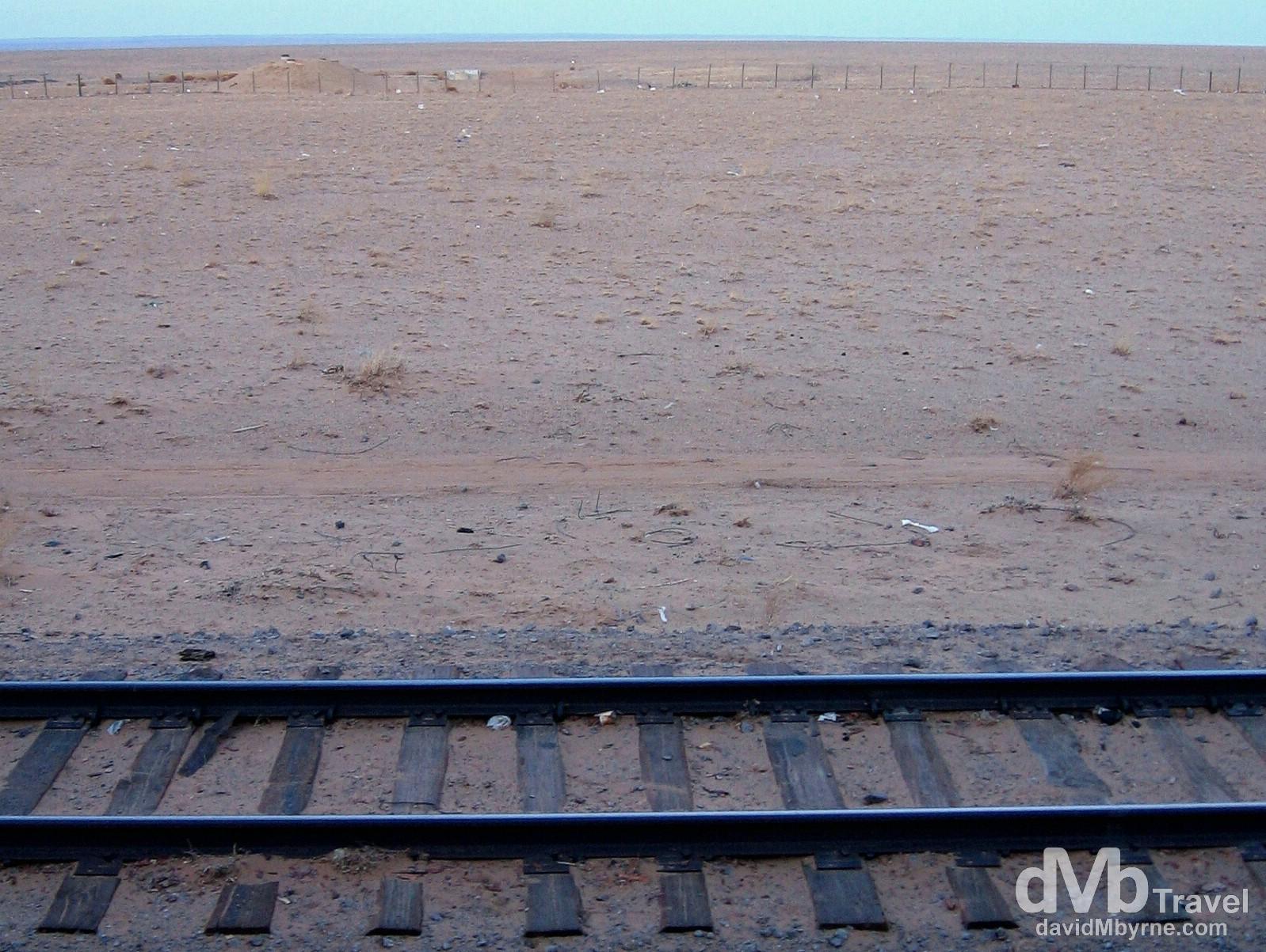 At the China/Mongolia boarder crossing, Zamyn-Uud, southern Mongolia. February 14, 2006.