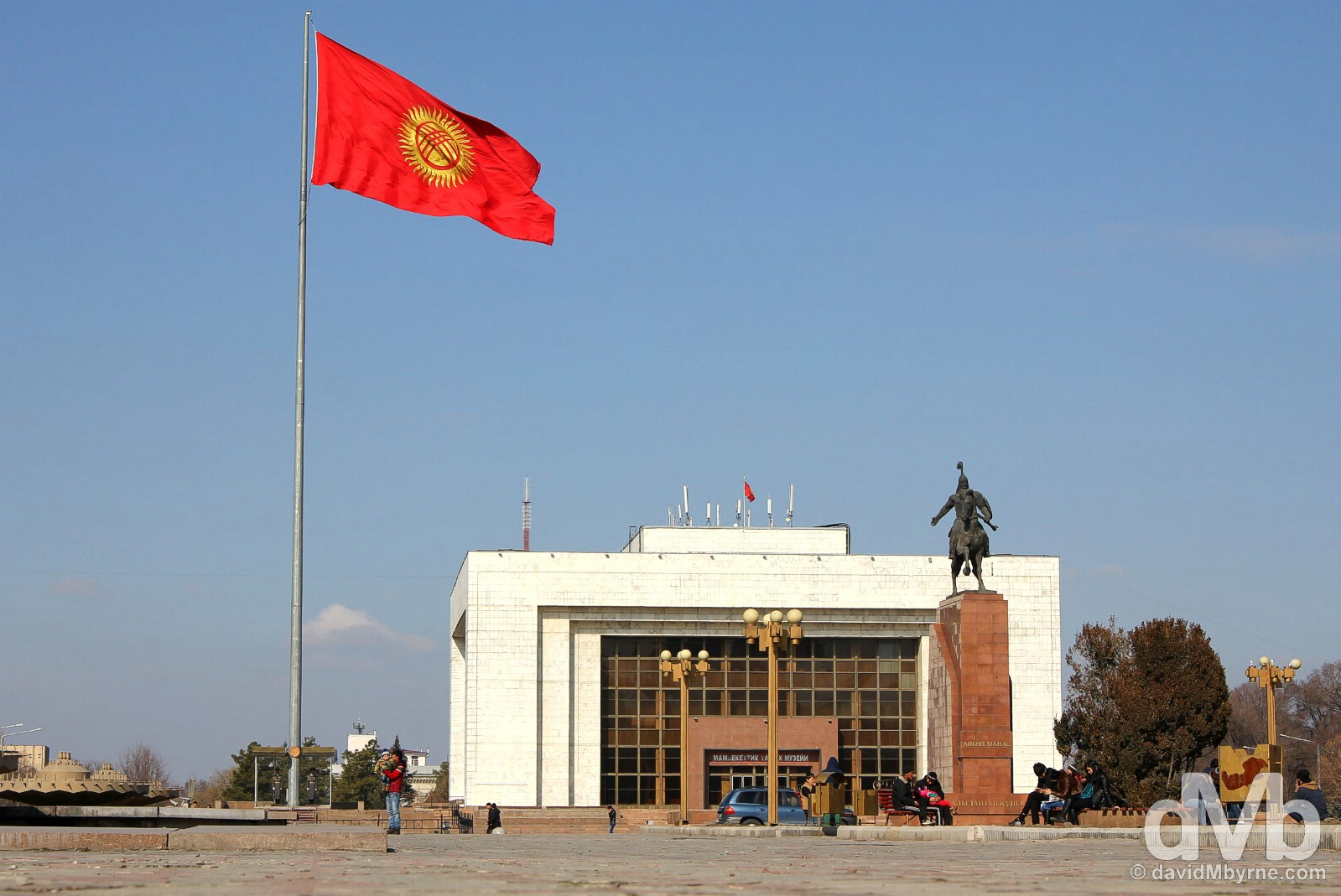 Ala-Too Square, central Bishkek, Kyrgyzstan. February 27, 2015.