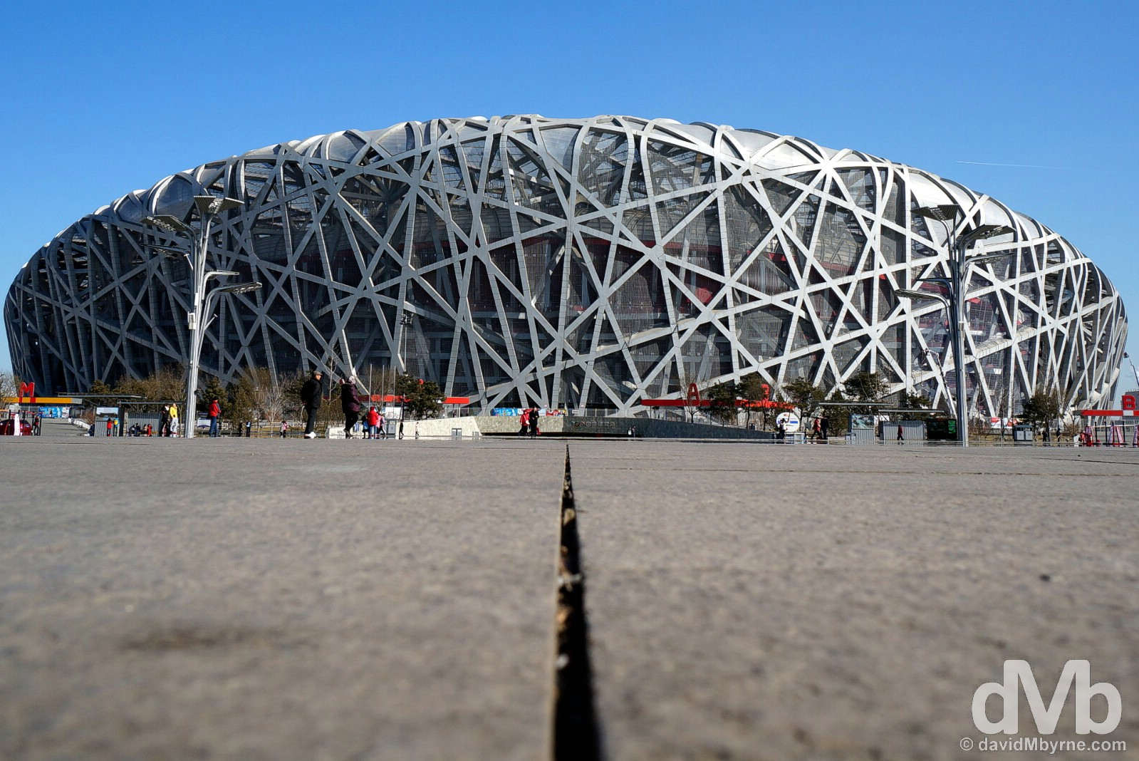 The National Stadium, a.k.a. the Bird's Nest, in Beijing Olympic Park, Beijing, China. February 5, 2015.