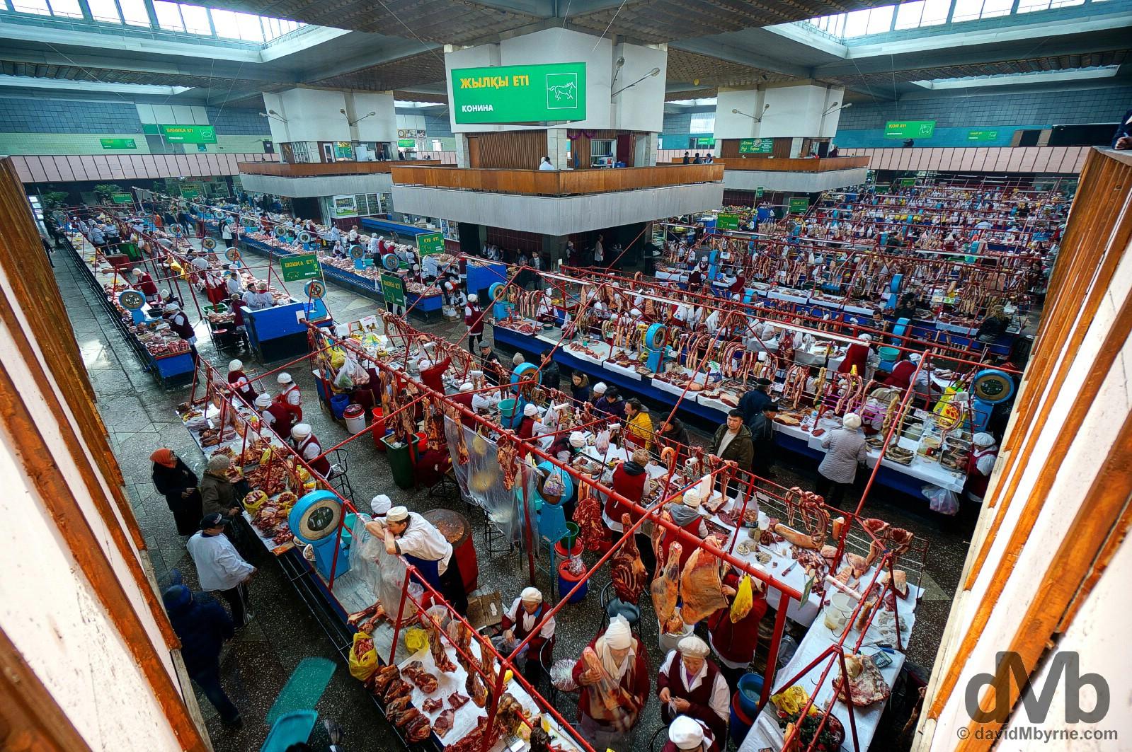 Zelyony Bazar, aka Green Market, in Almaty, Kazakhstan. February 15, 2015.