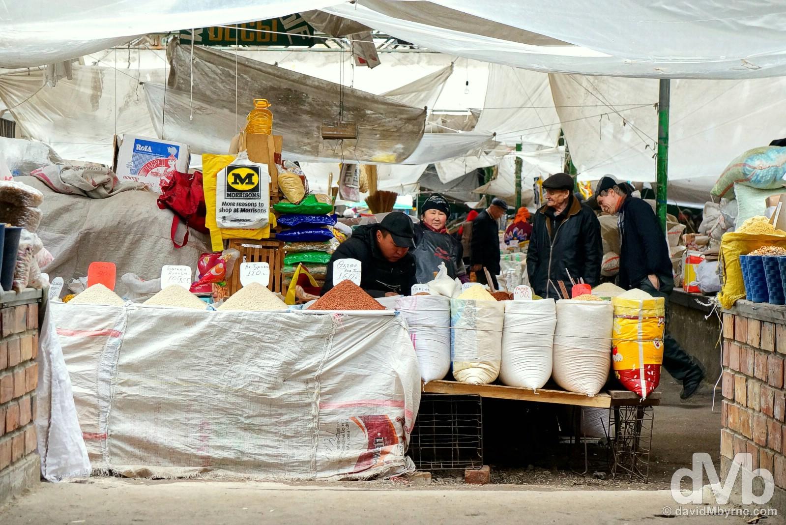 Osh Bazaar, Bishkek, Kyrgyzstan. February 25, 2015.