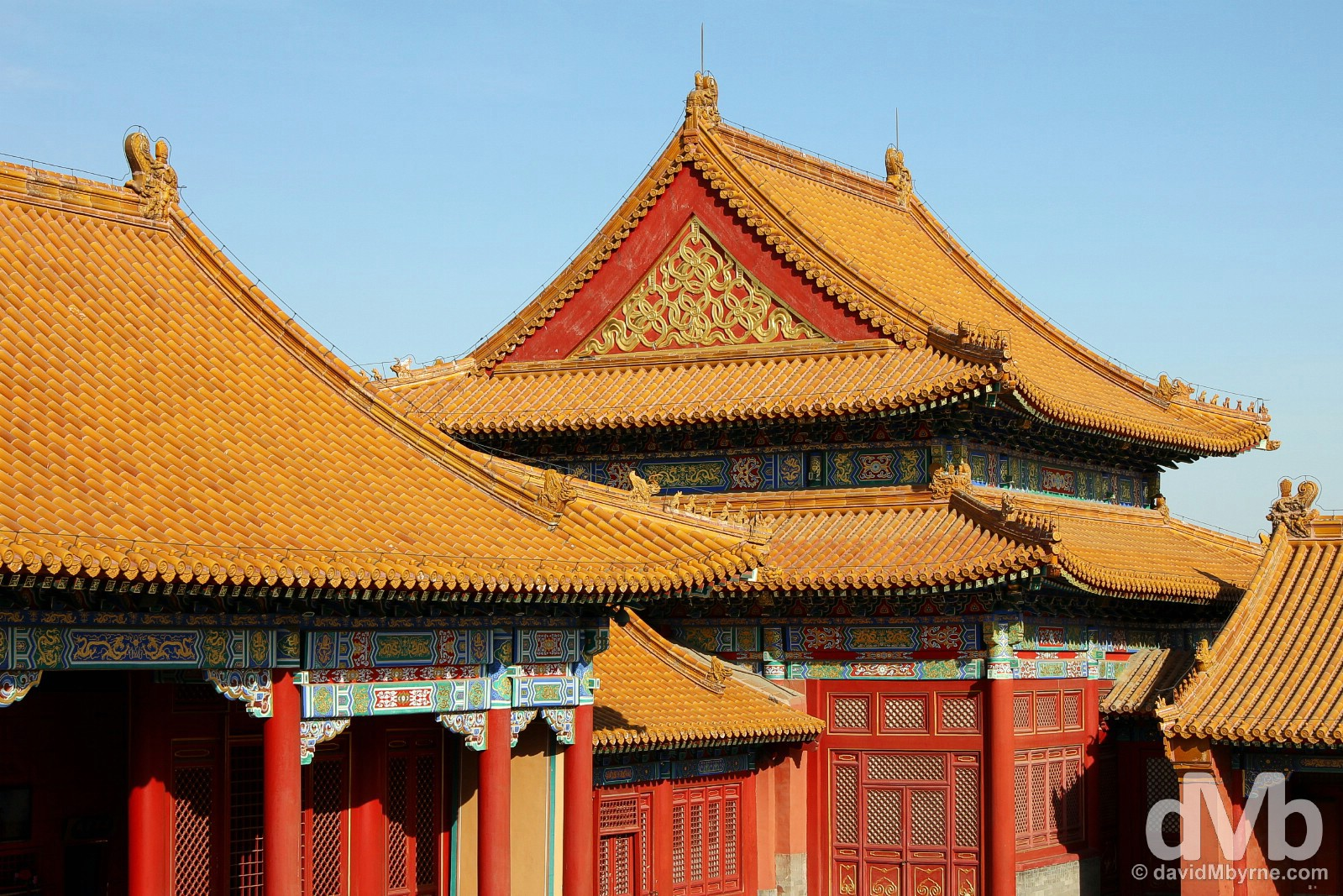 Buildings in the Place Museum, a.k.a. The Forbidden City, in Beijing, China. February 4, 2015.