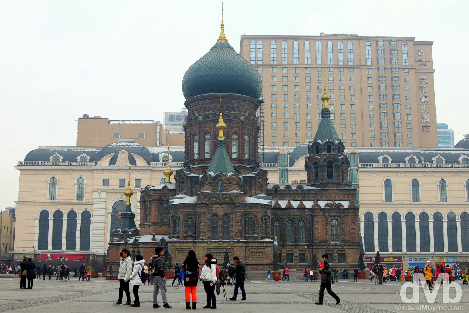 The Cathedral of the Holy Wisdom of God, a.k.a. the Russian Orthodox cathedral or formally St. Sofia's, in Harbin, China. February 6, 2015.