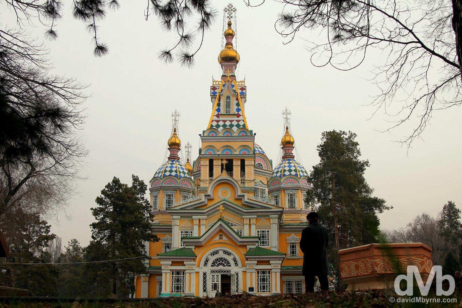 Zenkov Cathedral in Panfilov Park, Almaty, Kazakhstan. February 15, 2015.