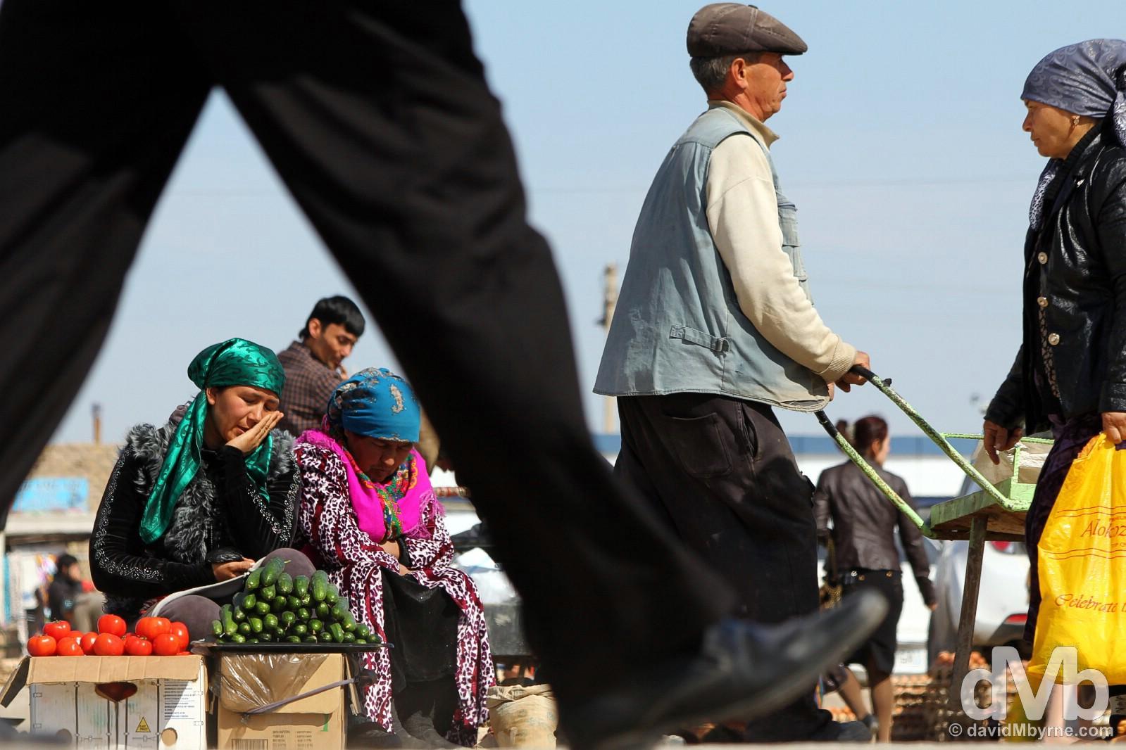 Dekhon Bazaar in Khiva, Uzbekistan. March 14, 2015.