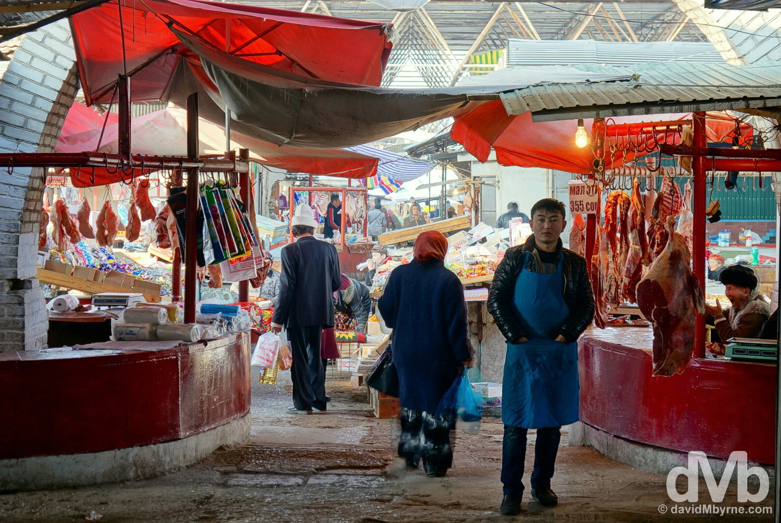 A section of the bazaar in Osh, southern Kyrgyzstan. March 3, 2015.