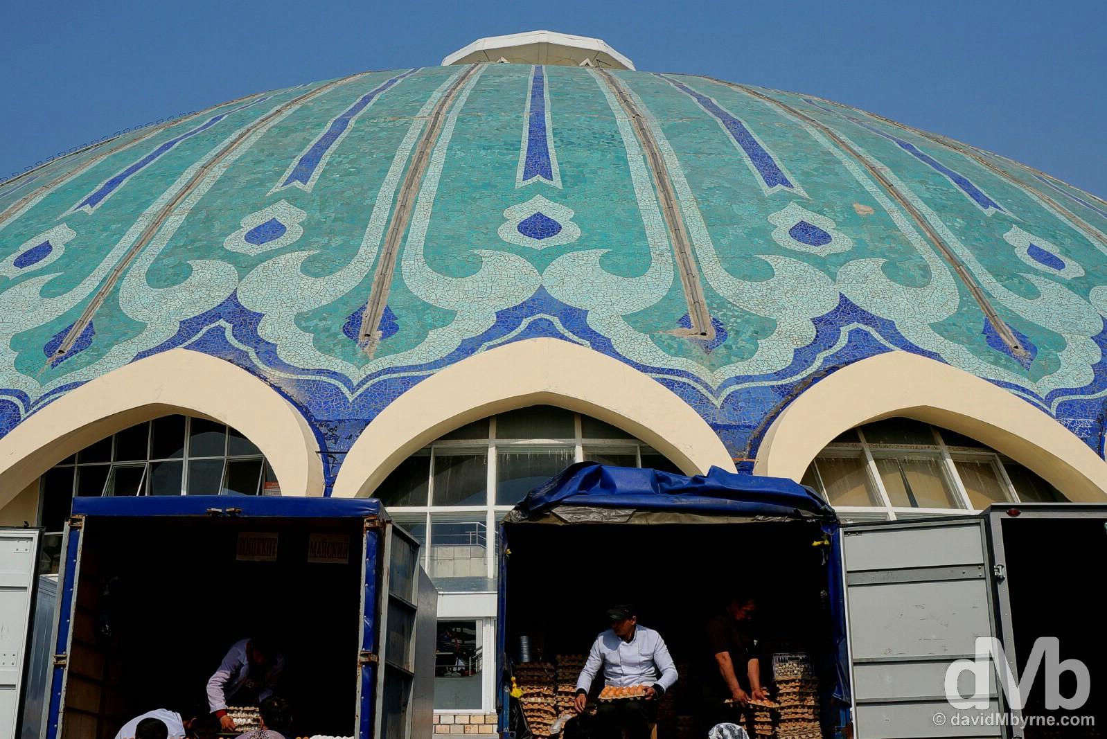 Chorsu Bazaar, Tashkent, Uzbekistan. March 5, 2015.