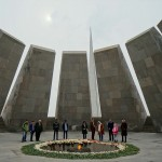 The memorial of Tsitsernakaberd, the Armenian Genocide Memorial & Museum in Yerevan, Armenia. March 24, 2015.
